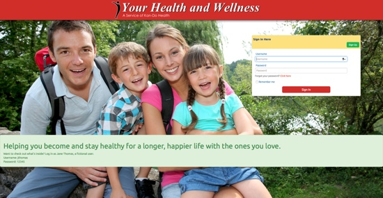 Your Health and Wellness Portal Demo
